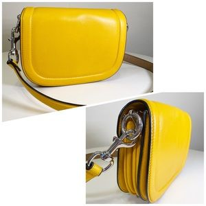 & Other Stories Leather Crossbody Saddle Bag